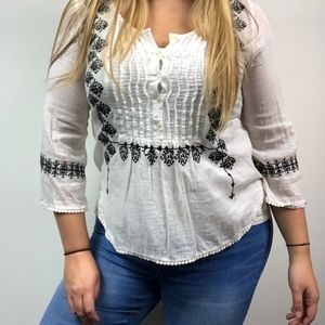 Ralph Lauren Denim and Supply Embroidered Blouse